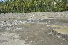 Русло реки реки Mal, Matanao, Davao del Sur, Филиппин стоковое фото