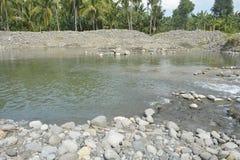 Русло реки реки Mal, Matanao, Davao del Sur, Филиппин стоковое изображение rf