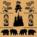 Русская декоративная картина иллюстрация штока