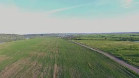 Русская деревня на заходе солнца видеоматериал