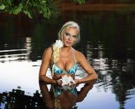 Русская девушка нимфы стоковая фотография rf