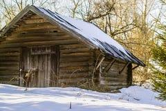 Русская деревня в зоне Kaluga стоковое изображение rf