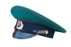 Русская зеленая крышка пограничника Стоковая Фотография
