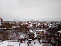 Русская зима приходит стоковая фотография