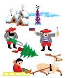 русская зима Иллюстрация вектора