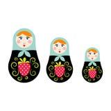 Русская иллюстрация вектора куклы вложенности Стоковые Изображения
