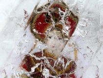 Русская кукла в блоке льда Стоковые Изображения