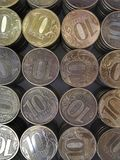 Русская монетка 10 рублей вертикальной рамки стоковое изображение rf