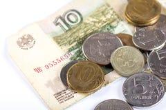 Русская национальная девальвация валюты Стоковое фото RF