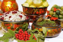 Русская национальная еда Стоковые Фотографии RF