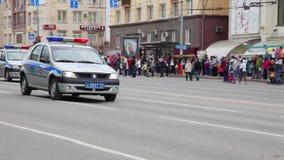 Русская полицейская машина в городе акции видеоматериалы
