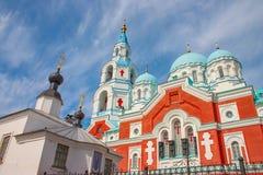 Русская правоверная христианская церковь на острове Valaam, озере Ladoga Стоковое Изображение