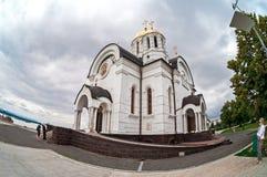 Русская православная церковь Висок мученика St. George в Sama стоковое фото