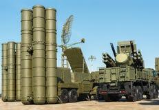 Русская система противовоздушной обороны и ракеты иллюстрация штока