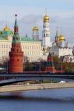 Русская столица Москвы Кремля Стоковые Изображения RF