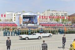 Русская церемония военного парада отверстия на ежегодном Викторе Стоковое Фото