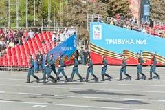 Русская церемония военного парада отверстия на ежегодном Викторе Стоковое Изображение