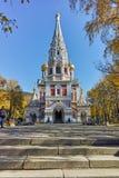 Русская церковь в городке Shipka, зоны Stara Zagora стоковая фотография rf