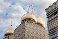Русская церковь в Париже Стоковая Фотография