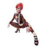 Русская go-go девушка с длинней оплеткой Стоковое фото RF