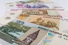 Русские бумажные деньги Стоковое Изображение
