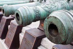 Русские военные оружи 17-18 столетий. Кремль, Россия Стоковое Изображение