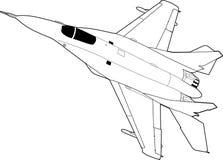 Русские воздушные судн MiG-29 реактивного истребителя Стоковое фото RF