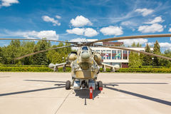 Русские воинские вертолеты Mi-28 Стоковые Фото