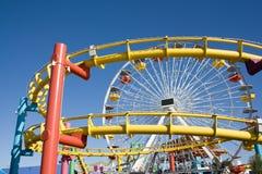 Русские горки и большое колесо Стоковые Фото