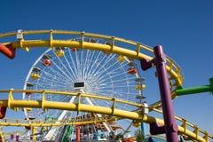 Русские горки и большое колесо Стоковое Фото