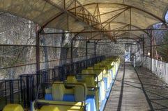 Русские горки на парке атракционов Стоковая Фотография RF