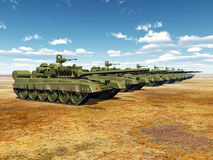 Русские главные боевые танки Стоковое Фото