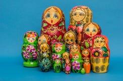 Русские деревянные куклы вложенности Стоковое Фото