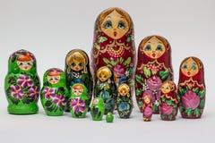 Русские деревянные куклы вложенности Стоковые Изображения