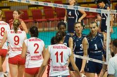 русские женщины волейбола Стоковые Изображения