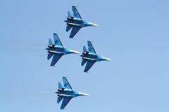 Русские зазвуковые самолет-истребители Su-27 стоковая фотография rf