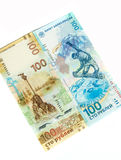 Русские коммеморативные банкноты Стоковое Фото