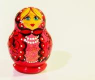 Русские куклы вложенности изолированные на белой предпосылке Стоковая Фотография RF