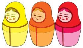 Русские куклы (кукла Matryoshka) Стоковое Фото