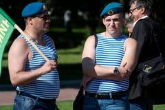 Русские морские пехотинцы Стоковые Фотографии RF