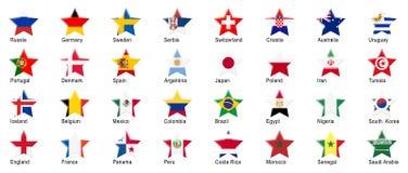 Русские национальные команды игры футбола Стоковая Фотография RF
