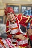 Русские национальные одежды. Стоковое Изображение