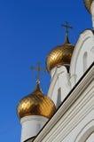 Русские правоверные куполы Стоковые Фото