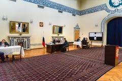 Русские президентские выборы в посольстве России восемнадцатого марта 2018 tehran Иран Стоковое Изображение