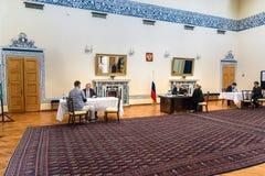 Русские президентские выборы в посольстве России восемнадцатого марта 2018 tehran Иран Стоковые Изображения