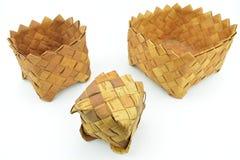 Русские родные сувениры от расшивы березы Стоковое Изображение