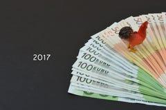 Русские рубли и кран на черной предпосылке Стоковое фото RF