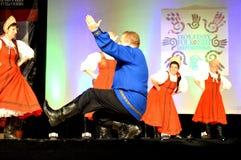 Русские танцоры Стоковое Изображение