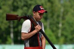 Русские чемпионаты в стрельбе ловушки Стоковая Фотография