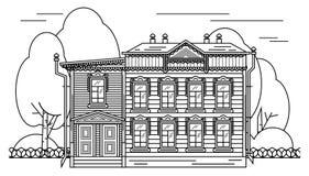 Русские элементы оформления дома иллюстрация штока